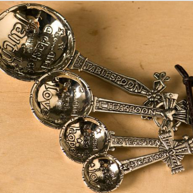 Spoonful of Crosses Measuring Spoons