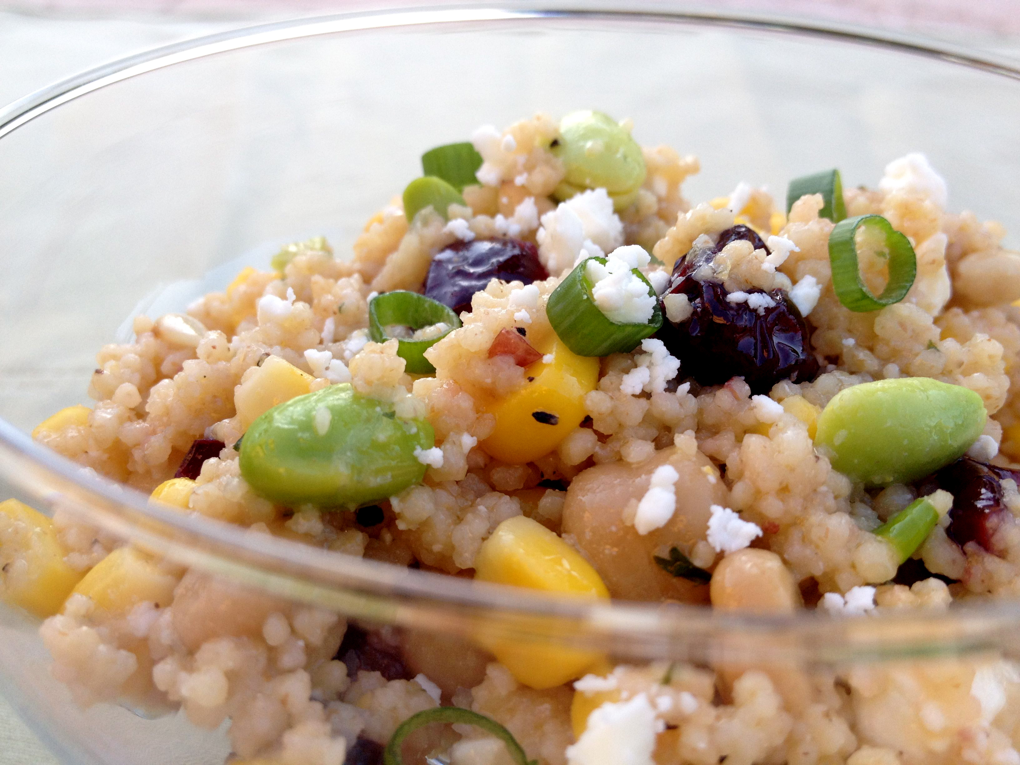 Couscous and Edamame Salad
